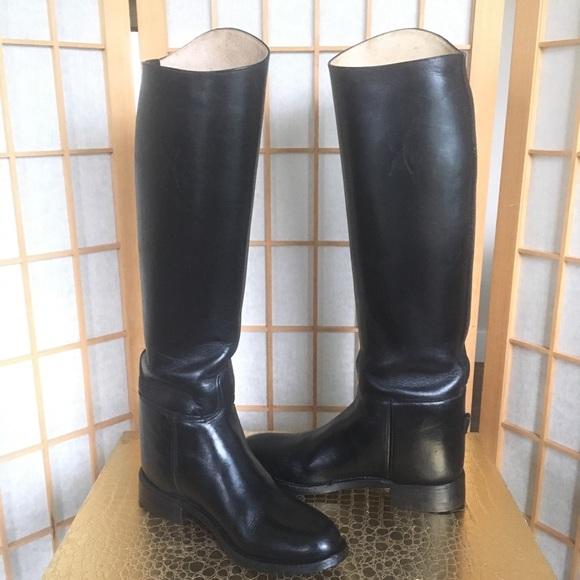 f57e350f14be6 Effingham Black Leather Equestrian Boot SZ 6 1/2
